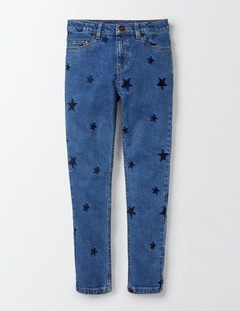 Embroidered Jeans Mid Vintage Girls Boden