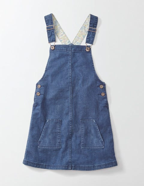 Hetty Dungaree Dress Mid Vintage Girls Boden Mid Vintage
