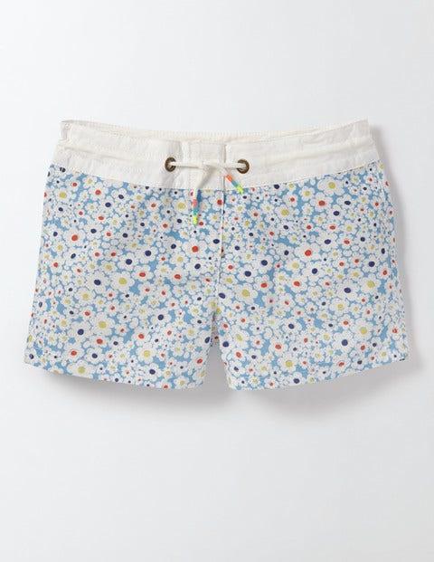 Board Shorts Bright Bluebell Daisy Girls Boden, Bright Bluebell Daisy