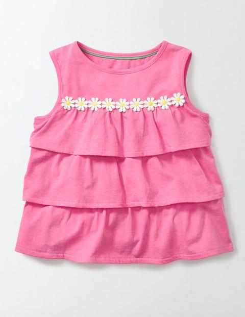 Pretty Ruffle Top Pink Fizz Girls Boden, Pink Fizz