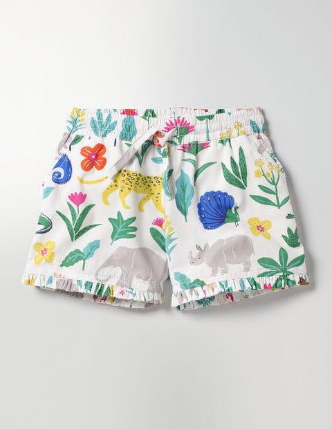 Summer Printed Short Multi Tropical Garden Girls Boden, Multi