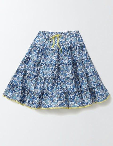 Twirly Woven Skirt Island Sapphire Flower Bed Girls Boden