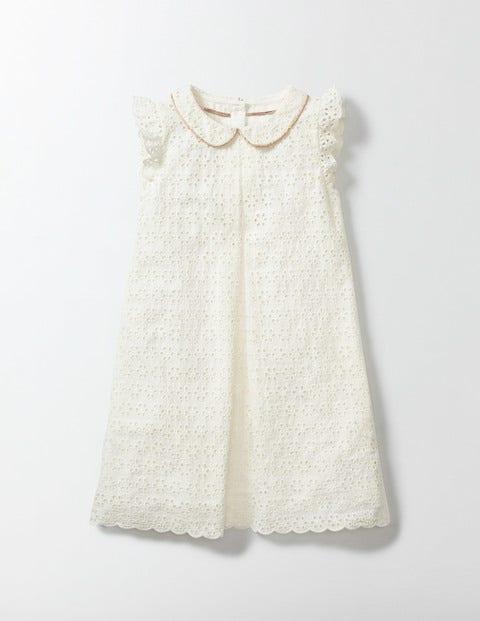 Vintage Style Children's Clothing: Girls, Boys, Baby, Toddler Broderie Collar Dress Ecru Girls Boden Ecru £22.00 AT vintagedancer.com