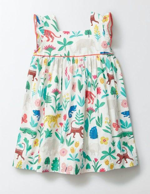 Printed Woven Dress Multi Tropical Garden Girls Boden