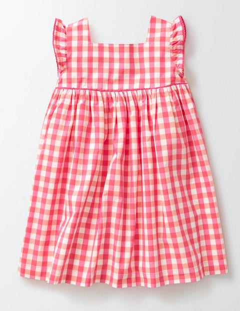 Kids 1950s Clothing & Costumes: Girls, Boys, Toddlers Printed Woven Dress Coral CrushMid Pink Check Girls Boden Coral CrushMid Pink Check £16.80 AT vintagedancer.com
