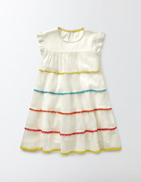 Vintage Style Children's Clothing: Girls, Boys, Baby, Toddler Woven Twirly Dress Ivory Girls Boden Ivory £35.00 AT vintagedancer.com
