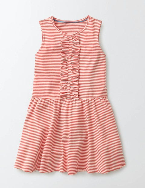 Vintage Style Children's Clothing: Girls, Boys, Baby, Toddler Jersey Ruffle Dress Coral Crush Girls Boden Coral Crush £24.00 AT vintagedancer.com