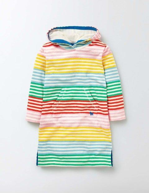 Towelling Beach Dress Multi Stripe Girls Boden