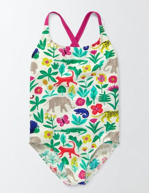 Fun Swimsuit Multi Tropical Garden Girls Boden