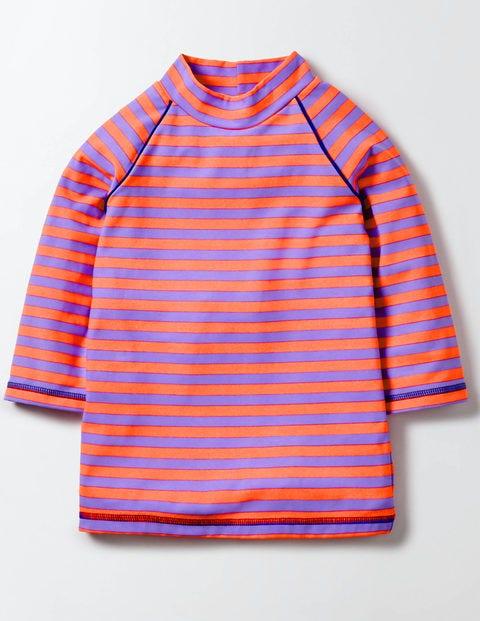 Fun Rash Guard Light Purple/Neon Stripe Girls Boden