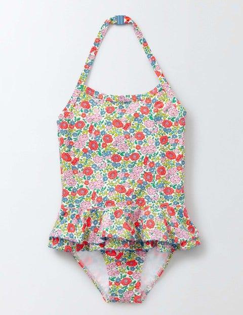 Pretty Ruffle Swimsuit Corsage Flowerbed Girls Boden