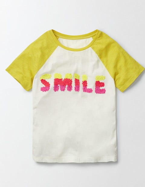 Kendal Tshirt IvoryMimosa Smile Girls Boden IvoryMimosa Smile
