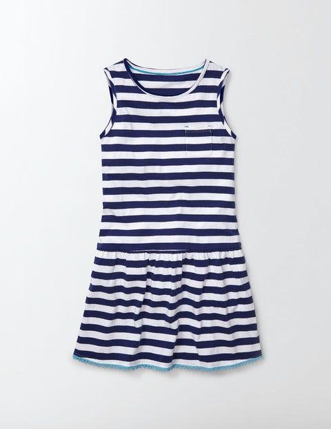 Vintage Style Children's Clothing: Girls, Boys, Baby, Toddler Federica Dress Island SapphireIvory Stripe Girls Boden Island SapphireIvory Stripe £29.00 AT vintagedancer.com