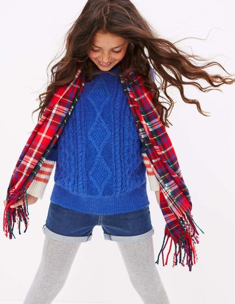 Woven Scarf - Red Check