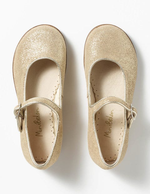 Party Mary Janes Gold Girls Boden