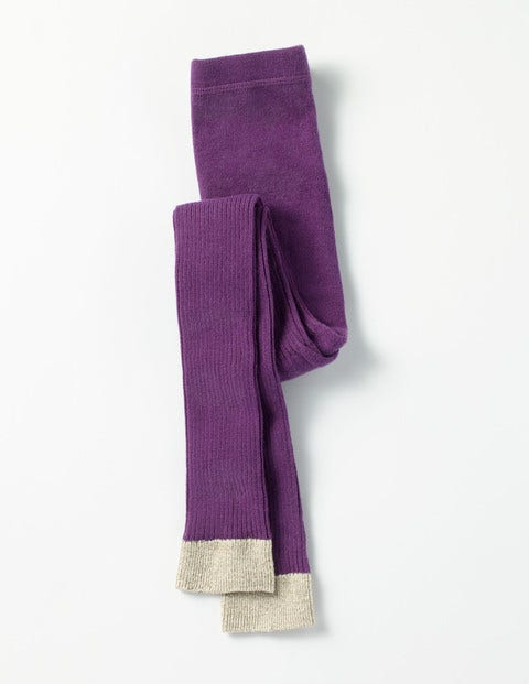 Sparkly Footless Tights Blackcurrant Purple Girls Boden