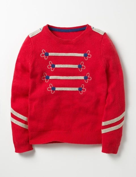 Sparkly Detail Sweater Rosehip Red Girls Boden