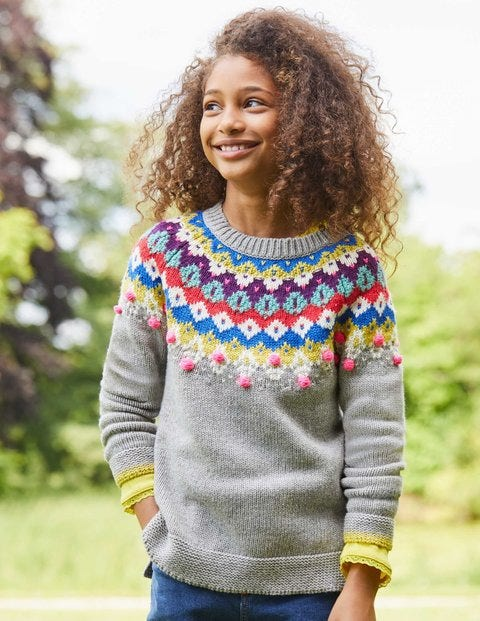 Fair Isle Jumper G0140 Knitted Jumpers at Boden