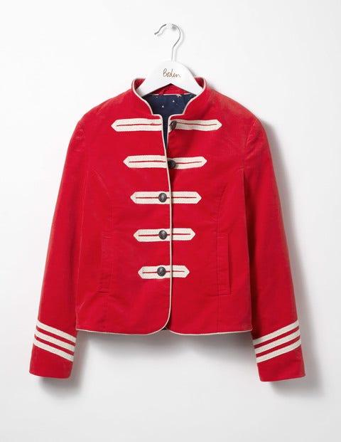 Military Velvet Jacket Ladybird Red Velvet Girls Boden