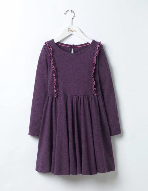 Ruffle Jersey Dress Misty Purple Girls Boden