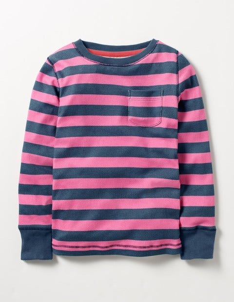 Everyday T-shirt Stormy Blue/Blossom Pink Girls Boden