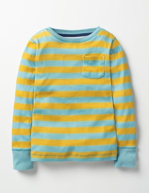 Everyday T-shirt Saffron Yellow/Frost Blue Girls Boden