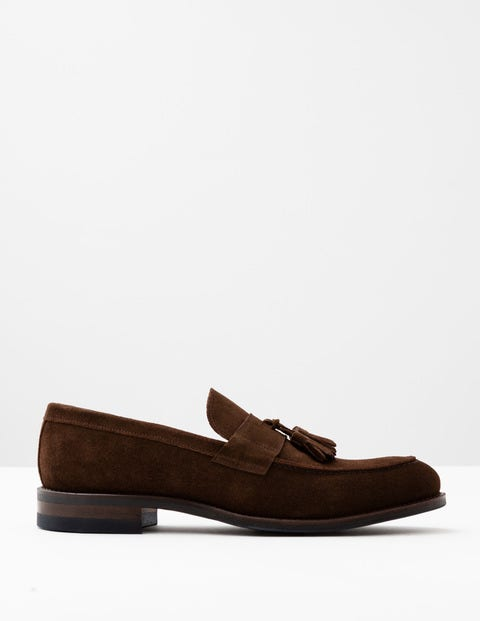 Corby Loafer Brown Suede Men Boden, Brown.