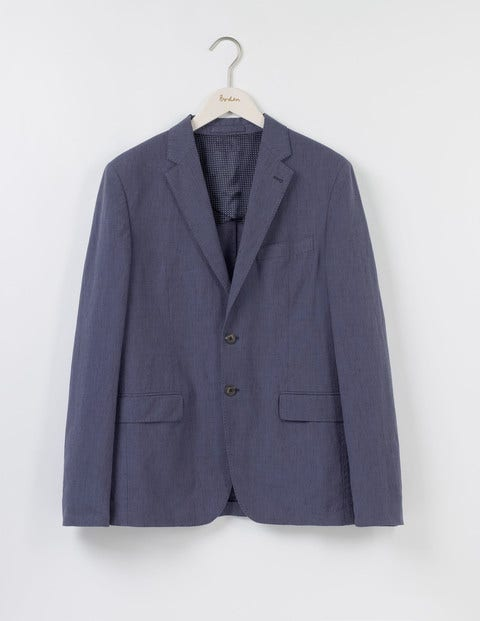 Lanchester Cotton Linen Blazer Naval Blue Men Boden