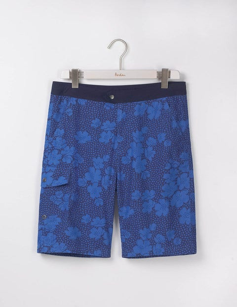 Board Shorts - Blues Floral