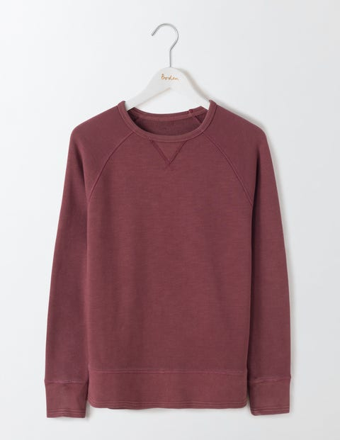 Turner Sweatshirt Washed Kidney Bean Men Boden Washed Kidney Bean
