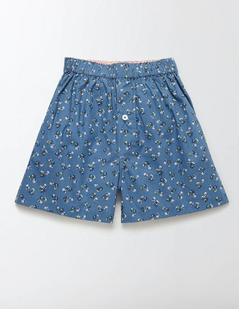 Woven Boxers Royal Marine Ditsy Floral Men Boden