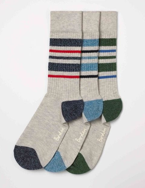 Off-Duty Socks - Stripe Twist Pack
