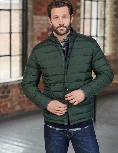 Highgate Quilted Jacket Spruce Green Colourblock Men Boden