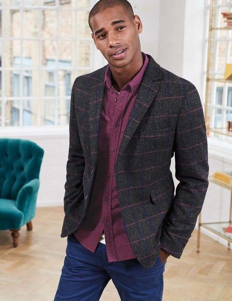 Fowley Tweed Blazer Pink/Blue Windowpane Check Men Boden