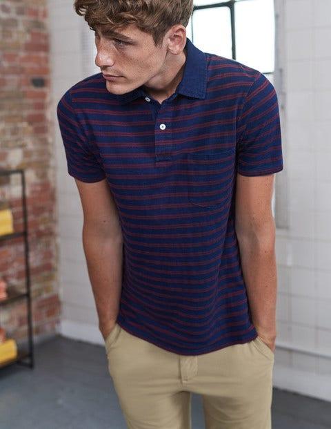 1960s – 1970s Mens Shirts- Dress, Mod, Disco, Turtleneck Slub Polo Indigo Textured Stripe Men Boden Indigo Textured Stripe £35.00 AT vintagedancer.com