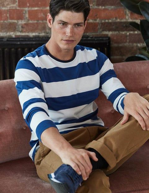 Long Sleeve Stripe T-shirt Royal Marine/Ecru Men Boden