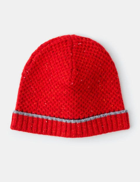 Merino Woolly Hat Red Donegal Men Boden