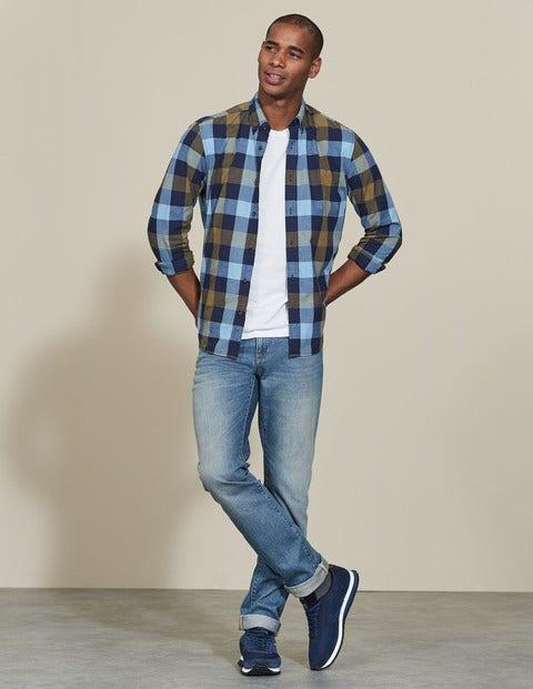 Slim Leg Jeans Heavy Wash Denim Men Boden