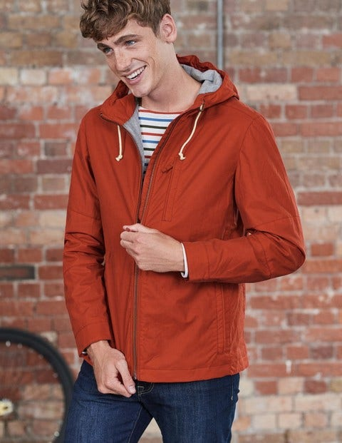 Dulwich Waxed Jacket Terracotta Men Boden, Orange.