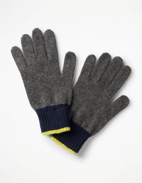 Cashmere Gloves Grey Marl Men Boden
