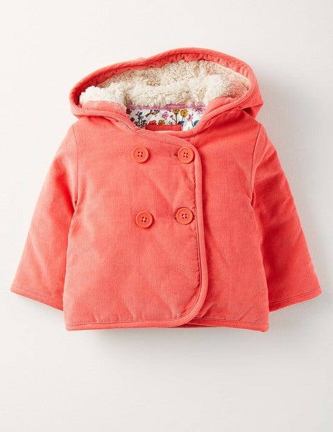 Pretty Cord Jacket Soft Rosehip Baby Boden, Red