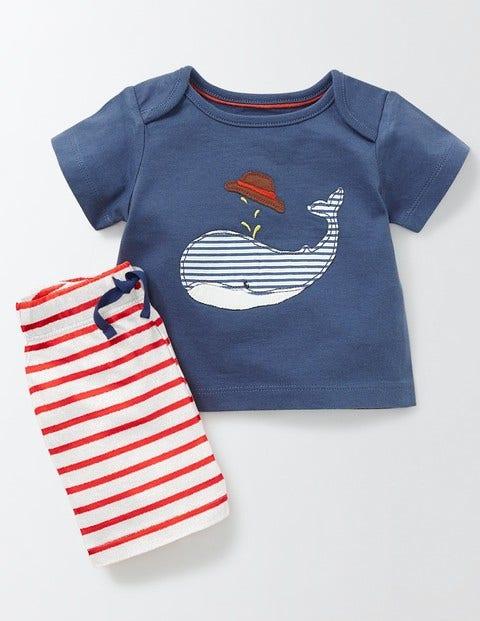 Fun Summer Jersey Play Set Dusky Blue/Whale Baby Boden