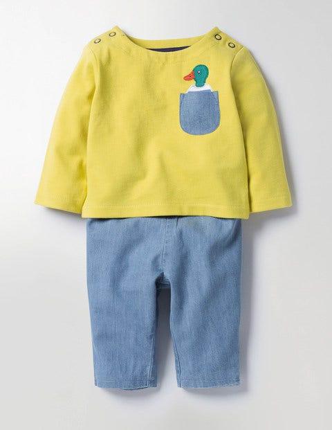 Pocket Pet Play Set Sweetcorn Yellow Duck Baby Boden, Yellow