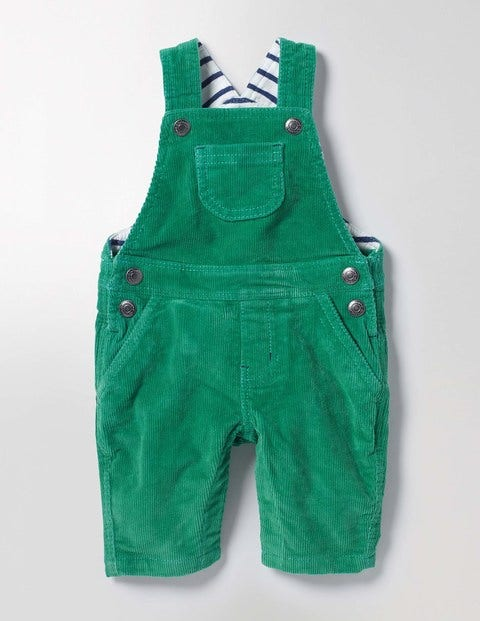 Classic Cord Overalls Greenhouse Green Baby Boden