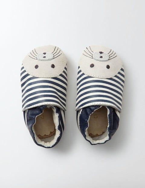 Baby Leather Shoes Beacon/Ecru Baby Boden, Beacon/Ecru
