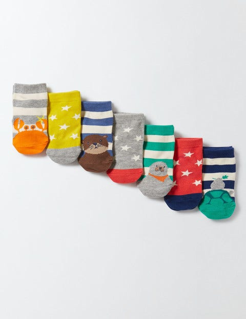 7 Pack Sock Box Star/Animal Baby Boden, Star/Animal
