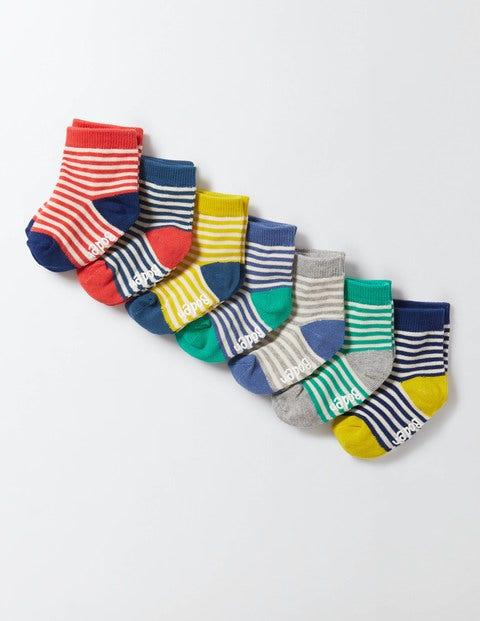 7 Pack Sock Box Stripe Baby Boden, Stripe