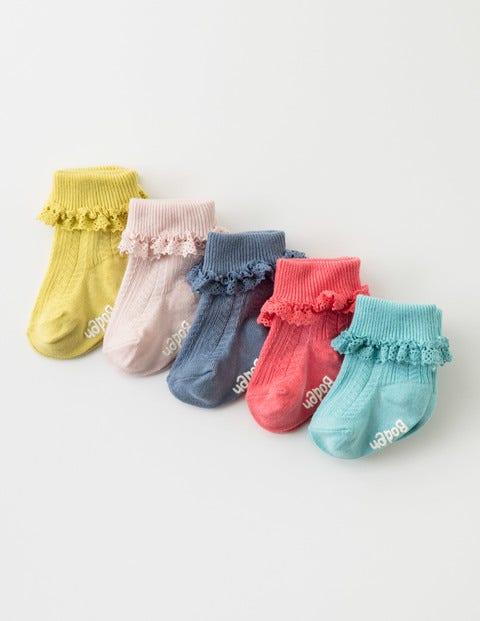 5 Pack Pretty Sock Box Crochet Lace Baby Boden, Crochet Lace