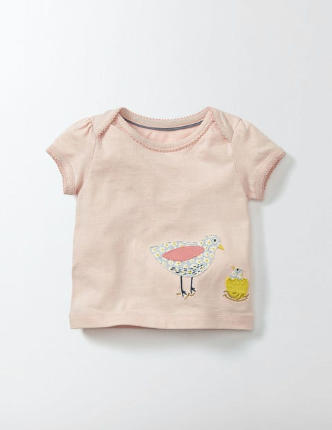 Animal Friends T-shirt Pink Icing Baby Boden, Pink.