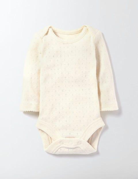 Supersoft Pointelle Body Mini Ecru Baby Boden, Mini Ecru